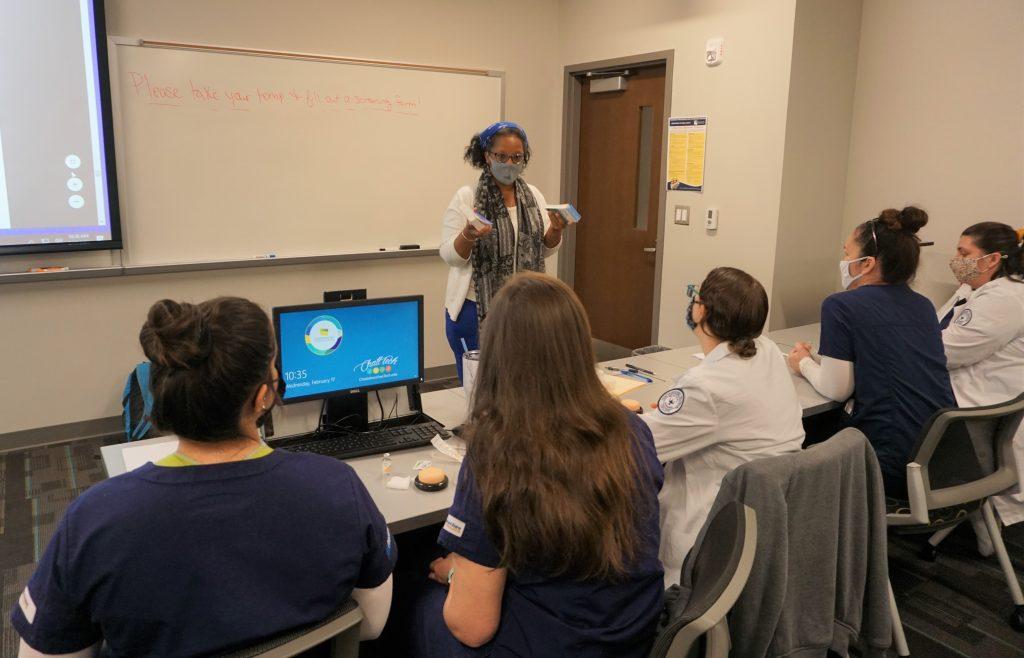 CTC Practical Nursing Program Director Aleta Harper leads a Medical-Surgical class for Chattahoochee Tech Practical Nursing program students.